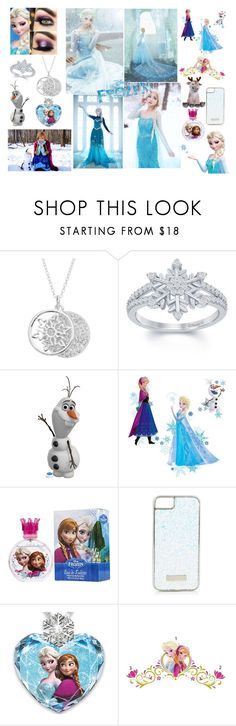 """Sans titre #298"" by kokoxpops ❤ liked on Polyvore featuring Disney, York Wallcoverings, Skinnydip, The Bradford Exchange, disney, frozen, anna, elsa and olaf"