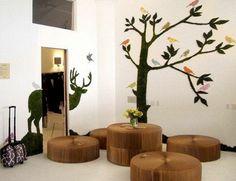 grafiti en mouss joli arbre decoration murale idee originale pour linterieur