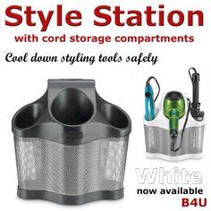 Hair Dryer Hair Straightener Holder Caddy Storage Bathroom Tools Organizer