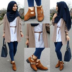 9 Best Hijab Styles With Jeans For Chic Dressing - 9 best hijab styles with jeans for a chic dressing - hijab fashion and chic style Hijab Chic, Hijab Elegante, Casual Hijab Outfit, Hijab Dress, Modern Hijab Fashion, Hijab Fashion Inspiration, Muslim Fashion, Style Inspiration, Dressing Chic