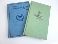 Vintage French Books Old Blue Green by ElmPlace on Etsy, $25.00