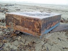 """The previously unexplained appearance of """"dozens"""" of """"unmovable metal boxes"""" on beaches along the Oregon coast, including Bray's Point south of Waldport and Stonefield Beach South of Yachats had the Internet buzzing with rumors of government black helicopters and UFO sightings. The reality turned out to be a bit more mundane.    After a careful study that included photos and up-close examinations of the mystery boxes, marine science experts and others have determined that they are ...cont.."""