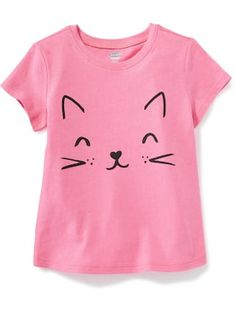 Graphic Crew-Neck Tee for Toddler Girls   Old Navy