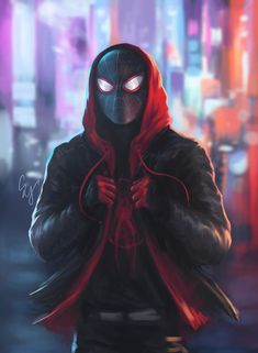 Print of my original artwork of Miles from Spiderman: Into the Spiderverse  available in  - 13x19  - 8.5x11