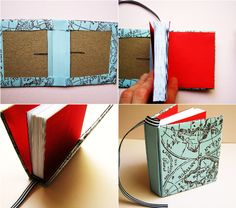 DIY book tutorial. Cute! Uses basic craft supplies.