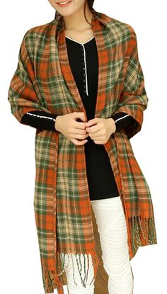 14.99$  Watch now - http://viupb.justgood.pw/vig/item.php?t=46rehgi2765 - Womens Warm Long Shawl Wraps Large Scarves Knit Cashmere Feel Plaid Scarf 6PQ 14.99$