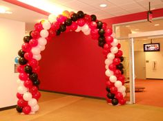 This is a DIY balloon arch decorating kit perfect for any indoor party or event. Includes 20ft pole, two wooden bases, hand air inflator and 130 11 latex balloons.  ~This is intended for indoor use only. *frame is 6ft tall at center x 9ft wide. { reusable! } The diameter using 20 latex is 11.  -->You can also make two 5ft balloon columns instead of a balloon arch with this equipment<--  *Perfect for photos *Place at entrance, next to treats or gift table  *Made to order, other colors m...