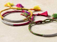colorful yarn braceletes ☆