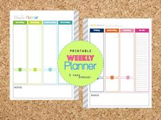 30% OFF Weekly Planner 2 page spread Pdf Printable Pages - INSTANT DOWNLOAD - with Menu Planning for Daily Planner or Home Binder by CleanLifeandHome on Etsy https://www.etsy.com/listing/195538591/30-off-weekly-planner-2-page-spread-pdf