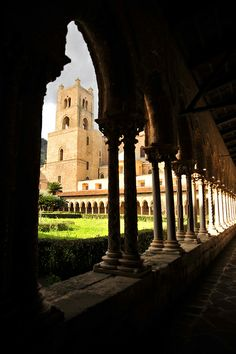 Chiostro and Duomo, Monreale, Sicily, Italy