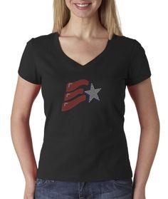 USA Flag Rhinestone T Shirt Original Price: $23.49  Discounted Price: $18.79  @ 20% till 30th June