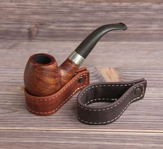 Items similar to Pipe & Tobacco Pouch Case Holder. on Etsy Tobacco Pipe Smoking, Tobacco Pipes, Smoking Pipes, Long Pipe, Estate Pipes, Pipes And Cigars, Coffee And Books, Leather Projects, Crazy Horse