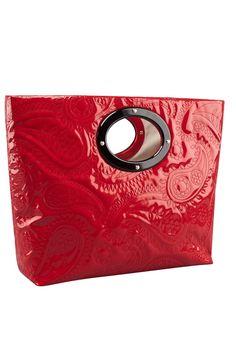 Kate Spade Kei Calabasas Red Vinyl Handbag