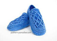 Crochet Pattern: Trellis Slippers   Pattern Paradise