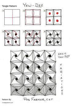 Zentangle Patterns Tutorial Art-zentangle on pinterest tangle patterns, zentangle