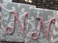 Wall Letters Pink and Gray Nursery Gray and by spellitwithstyle, $21.99