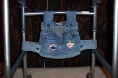 My walker bag made from repurposed jeans.