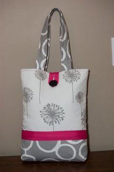 Large Handmade Fabric Tote Bag: