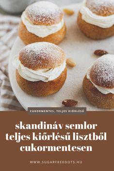 Cukormentes és teljes kiőrlésű semlor, svéd édes péksütemény, mandulás töltelékkel Hamburger, Food Ideas, Bread, Cakes, Cake Makers, Brot, Kuchen, Cake, Baking