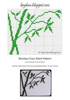 Krydasu: Bamboo Cross Stitch Pattern