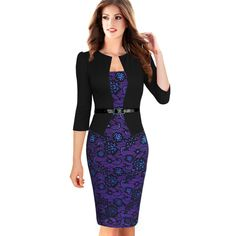 Find More Dresses Information about 2015 Women Summer Elegant Belted Tartan Lace Patchwork Tunic Wear to Work Business Casual  Pencil Wiggle Sheath Dress 068,High Quality pencil dress,China pencil picture Suppliers, Cheap dress pencil from Valuefashionshop on Aliexpress.com