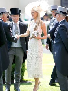 Storm Uechtritz in Burberry dress - Royal Ascot 2015 - Ladies Day Race Day Outfits, Derby Outfits, Races Outfit, Ascot Outfits 2018, Kentucky Derby Outfit, Kentucky Derby Fashion, Race Day Fashion, Races Fashion, Fashion News