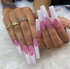 French Manicure Acrylic Nails, Bling Acrylic Nails, Summer Acrylic Nails, Best Acrylic Nails, Bling Nails, Summer Nails, Nail Polish, Sexy Nails, Cute Nails