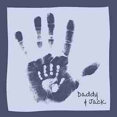 Daddy and Son hand prints canvas ((: -- I want to do mummy and daughter. Then daddy and daughter. Then big sister and little sister.
