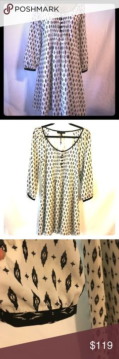 Sanctuary Dress Super adorable black & white patterned dress Sanctuary Dresses