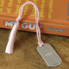 personalised solid silver bookmark by hersey silversmiths | notonthehighstreet.com
