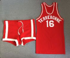 Vintage 50's Basketball Jersey and Shorts Uniform TERREBONNE OR Coane USA Made