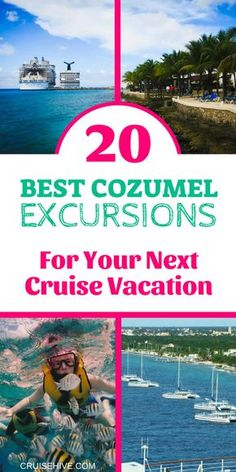 This is one of the most popular Caribbean cruise destinations so here are the best Cozumel Excursions to know about for your cruise ship visit. Cozumel Excursions, Cozumel Cruise, Cruise Port, Shore Excursions, Cruise Travel, Cruise Vacation, Cruise Tips, Vacations, Family Cruise