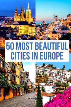 Check this list for the most beautiful cities in Europe you should visit. This is the list of the best places to visit in Europe you should bookmark. Best Cities In Europe, Travel Around Europe, Most Beautiful Cities, Cool Places To Visit, Strand, The Good Place, Travel Inspiration, Travel Tips, Traveling
