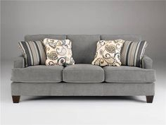 Ashley Furniture Sofa/Couch Gray Linen. Steel?