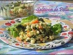 SALPICON DE POLLO RECETA FACIL Y RAPIDA - YouTube Potato Salad, Pizza, Cooking Recipes, Make It Yourself, Vegetables, Ethnic Recipes, Youtube, Food, Salads