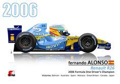 Renault R26. 2006 Championship winner for Fernando Alonso