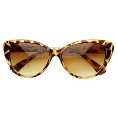 ffe1015e72 Trendy Retro Cat Eye Chic 1950 s Fashion Sunglasses 8447