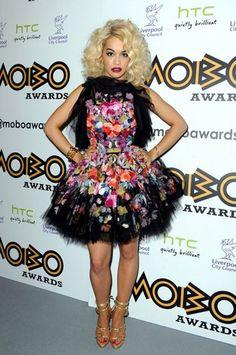 Rita Ora Dons A Colorful Garden Party Frock