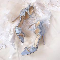 pale blue lace wedding shoes