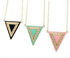TRIANGLE NECKLACE 3 - Rings & Tings | Online fashion store | Shop the latest trends