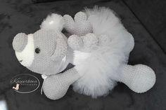 amigurumi crochet teddybear angel wedding