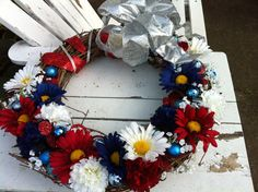 Independence Day July 4th Grapevine Wreath by Memesterchic on Etsy, $65.00