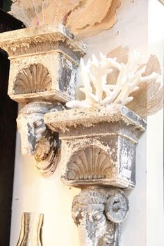 Coastal Living...use Corbels to display your treasures from the sea!