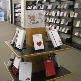 """Allen County Public Library's """"Blind Date with a Book"""" young adults display. Book Displays, Library Displays, Singles Events, Summer Reading Program, Blind Dates, Young Adults, Library Ideas, Media Center, Book Nooks"""