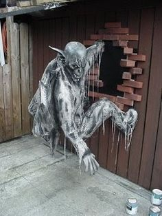 escaped creature. There are some seiously cool halloween stuff on pinterest these days. :)