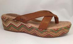 Born Concept Women's Hanley Light Brown Burlap Saddle Sandal Wedge Size 7 NEW #Brn #PlatformsWedges