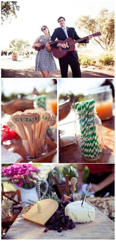 love these green and white striped straws.