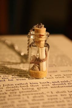 beach inspired message in a bottle necklace www.invitationinabottle.com