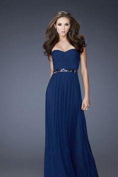 2013 Prom Dresses Sheath/Column Floor Length Sweetheart Chiffon Rhinestone USD 109.99 VPL3PEHM6 - VoguePromDresses