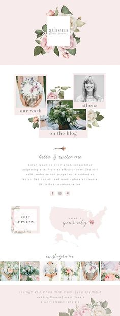 Wix Website Template by Sunny Blossom Designs on @creativemarket